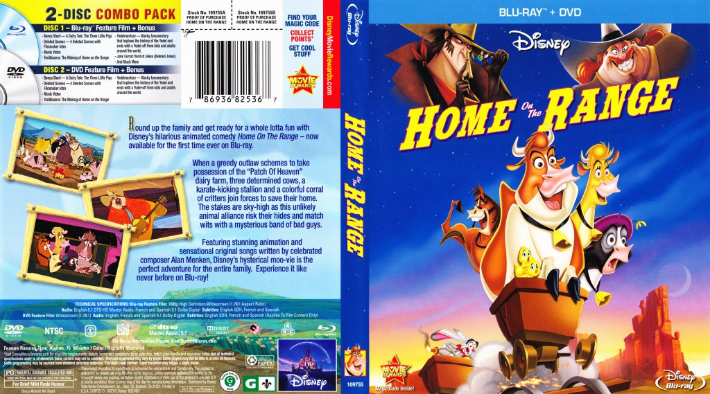 home on the range movie blu ray scanned covers home1 dvd covers. Black Bedroom Furniture Sets. Home Design Ideas