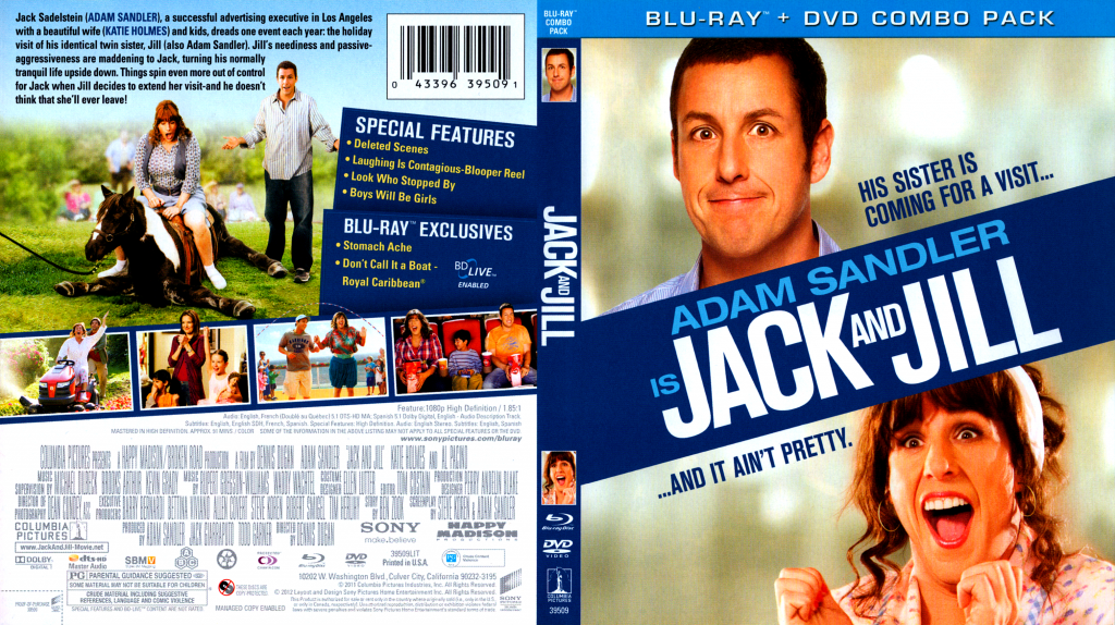 Jack And Jill Movie Blu Ray Scanned Covers Jack And