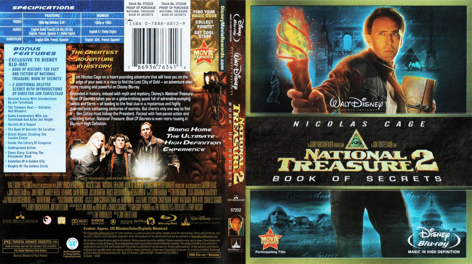 National Treasure 2 Book Of Secrets - Movie Blu-Ray ...