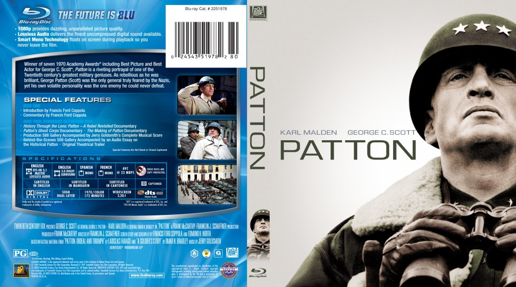 Patton - Movie Blu-Ray Scanned Covers - Patton 1970 ...