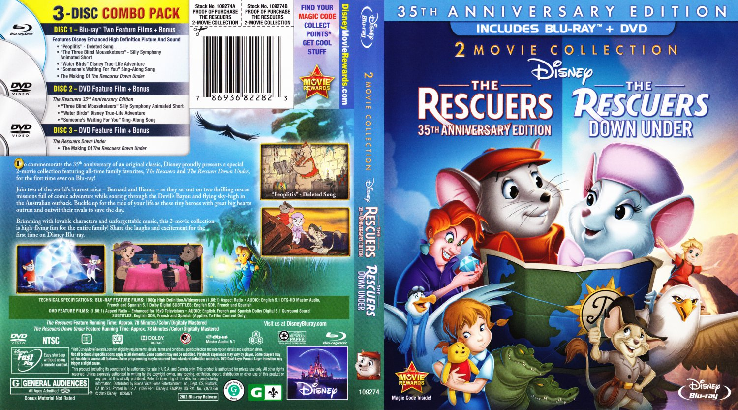 Rescuers Down Under Dvd The Rescuers Dvd The Rescuers