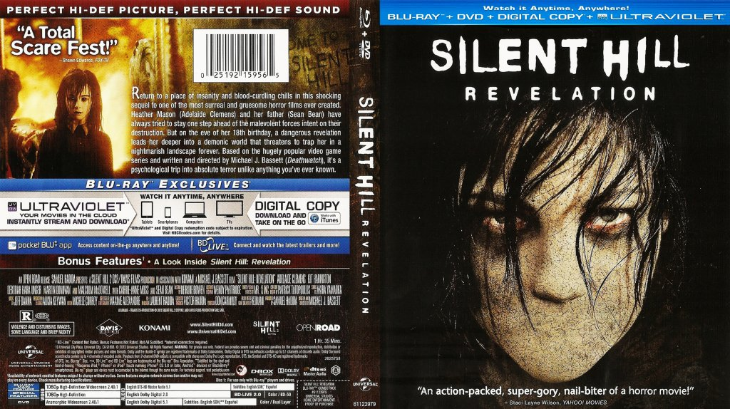 Silent Hill Revelation Movie Blu Ray Scanned Covers