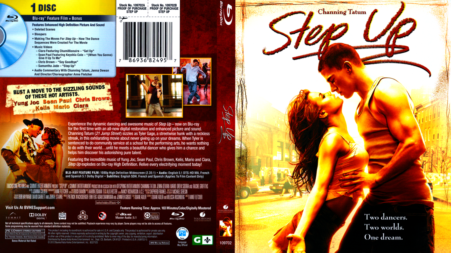 Step Up - Movie Blu-Ray Scanned Covers - Step Up :: DVD Covers