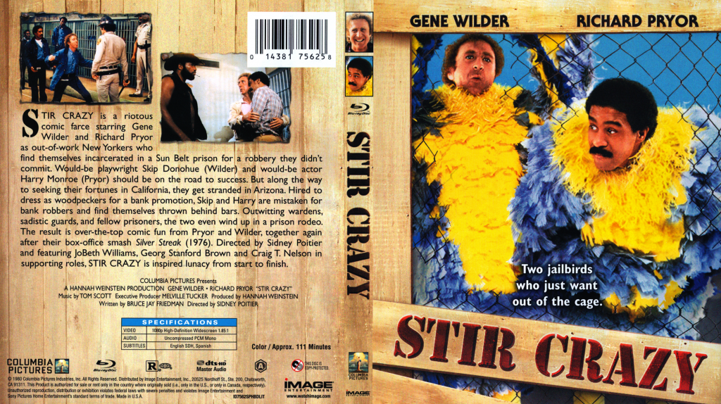 Stir Crazy - Movie Blu-Ray Scanned Covers - Stir Crazy :: DVD Covers