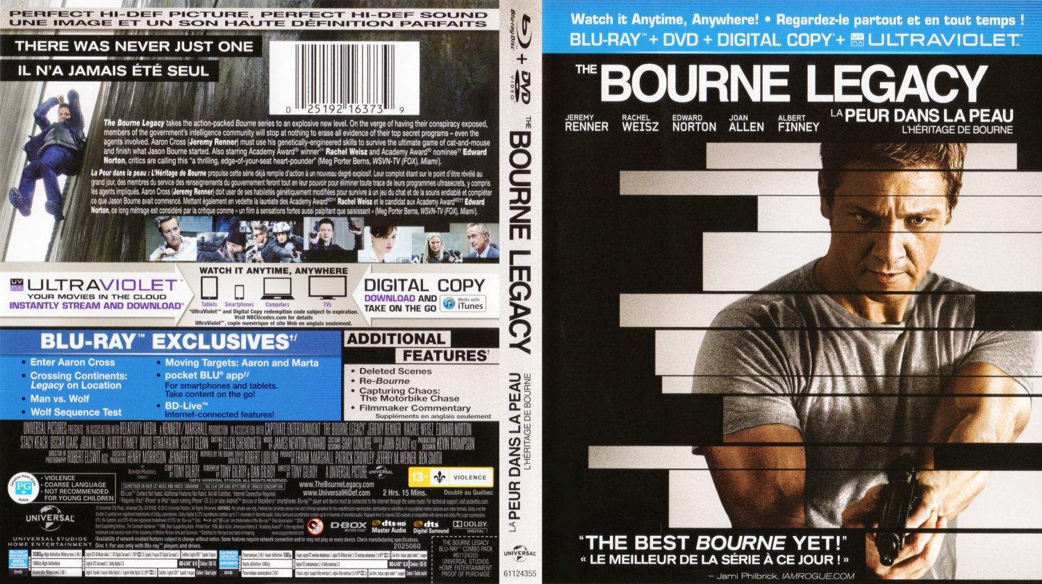 The Bourne Legacy - Movie Blu-Ray Scanned Covers - The ...