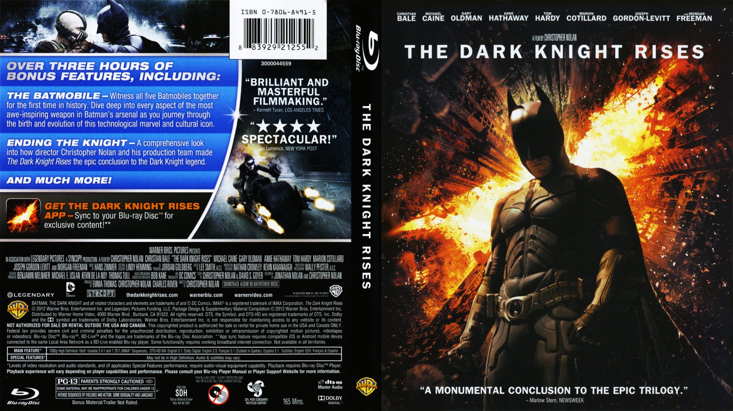 Dark Knight Rises Dvd Cover Dark Knight Rises Blu-ray