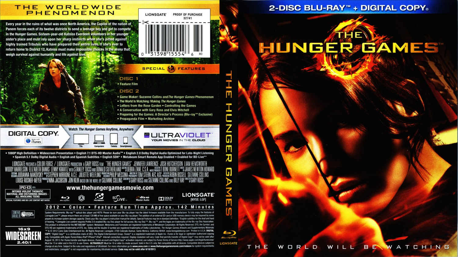 free hunger game movies on dvd