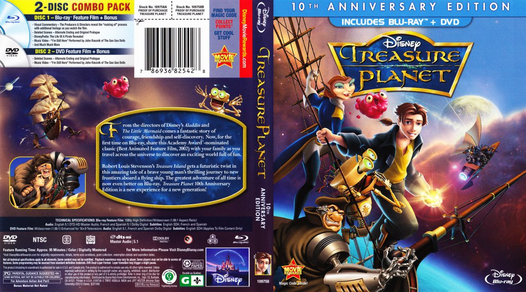 Treasure planet 2 dvd