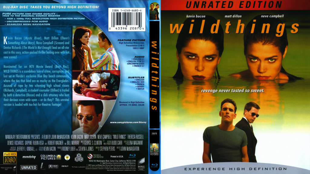 Wild Things - Movie Blu-Ray Scanned Covers - Wild Things ...