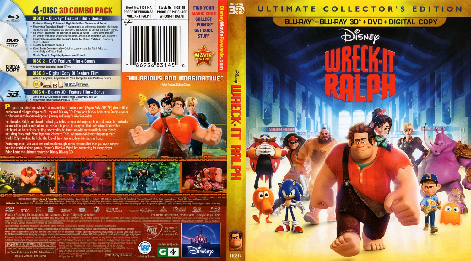 wreck it ralph 3d blu ray car interior design