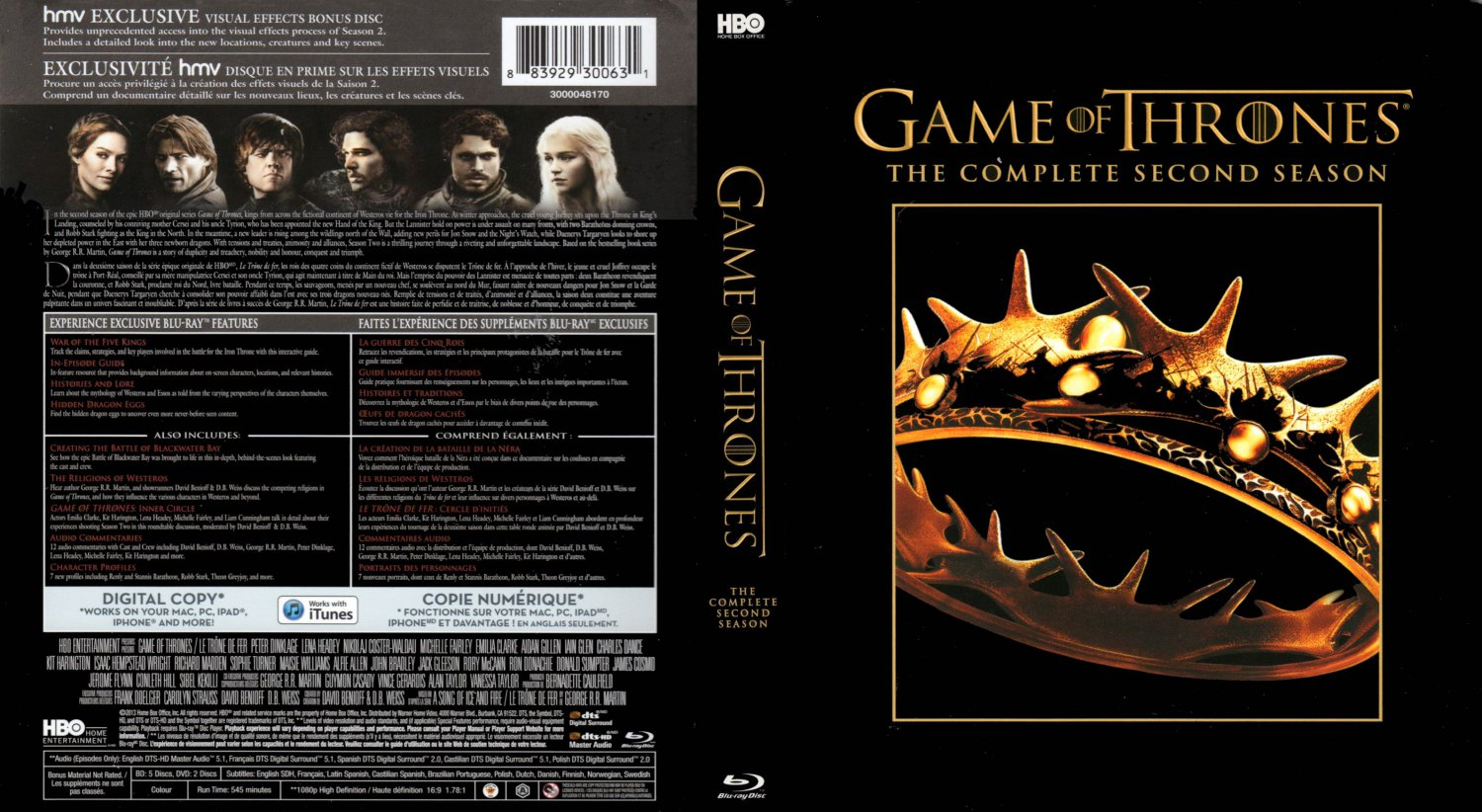 game of thrones tv blu ray scanned covers got2 1. Black Bedroom Furniture Sets. Home Design Ideas