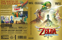 The Legend of Zelda Skyward Sword DVD NTSC Custom f3