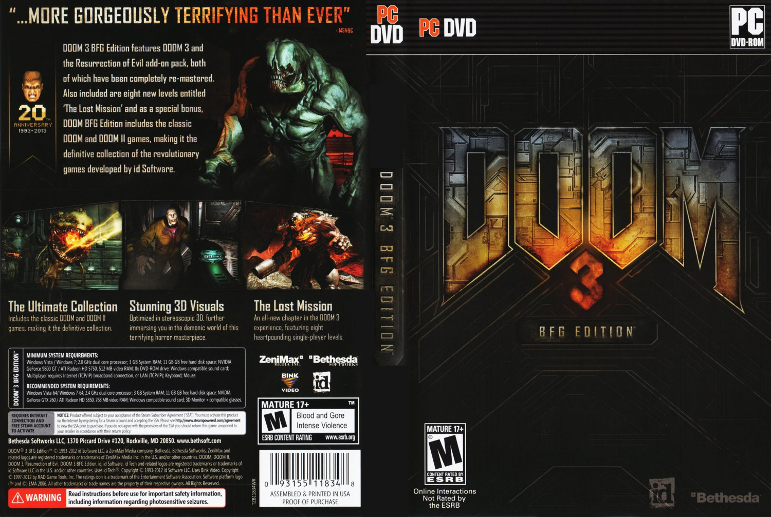Download free Doom 3 BFG Edition for windows 8 current