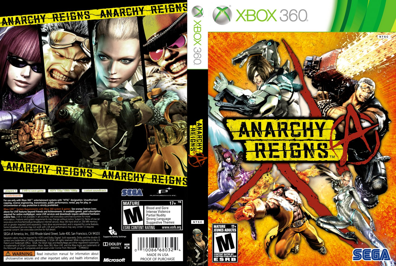 Anarchy Reigns XBOX360 Free Download Xbox 360 Game Covers Download