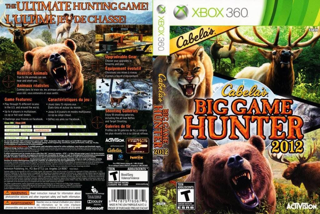 Hunting Games For Xbox 360 : Cabela s big game hunter xbox covers