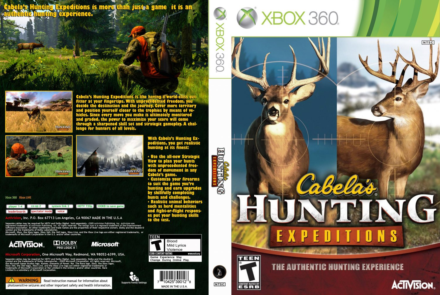 Hunting Games For Xbox 360 : Cabelas hunting expeditions xbox game covers