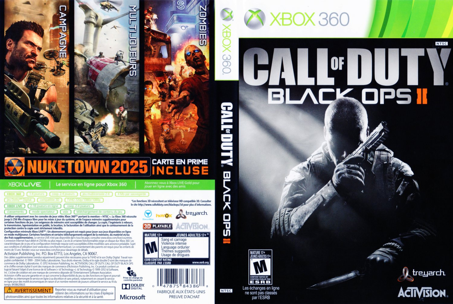 call of duty black ops ii xbox 360 game covers call of. Black Bedroom Furniture Sets. Home Design Ideas