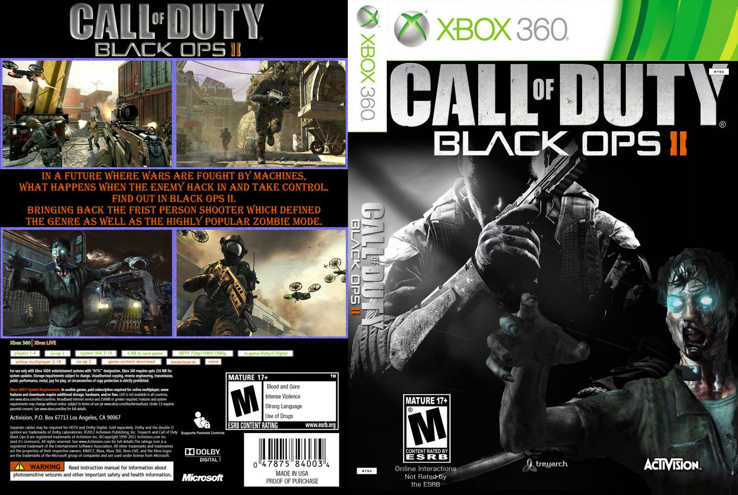 call of duty black ops ii xbox 360 game covers call. Black Bedroom Furniture Sets. Home Design Ideas