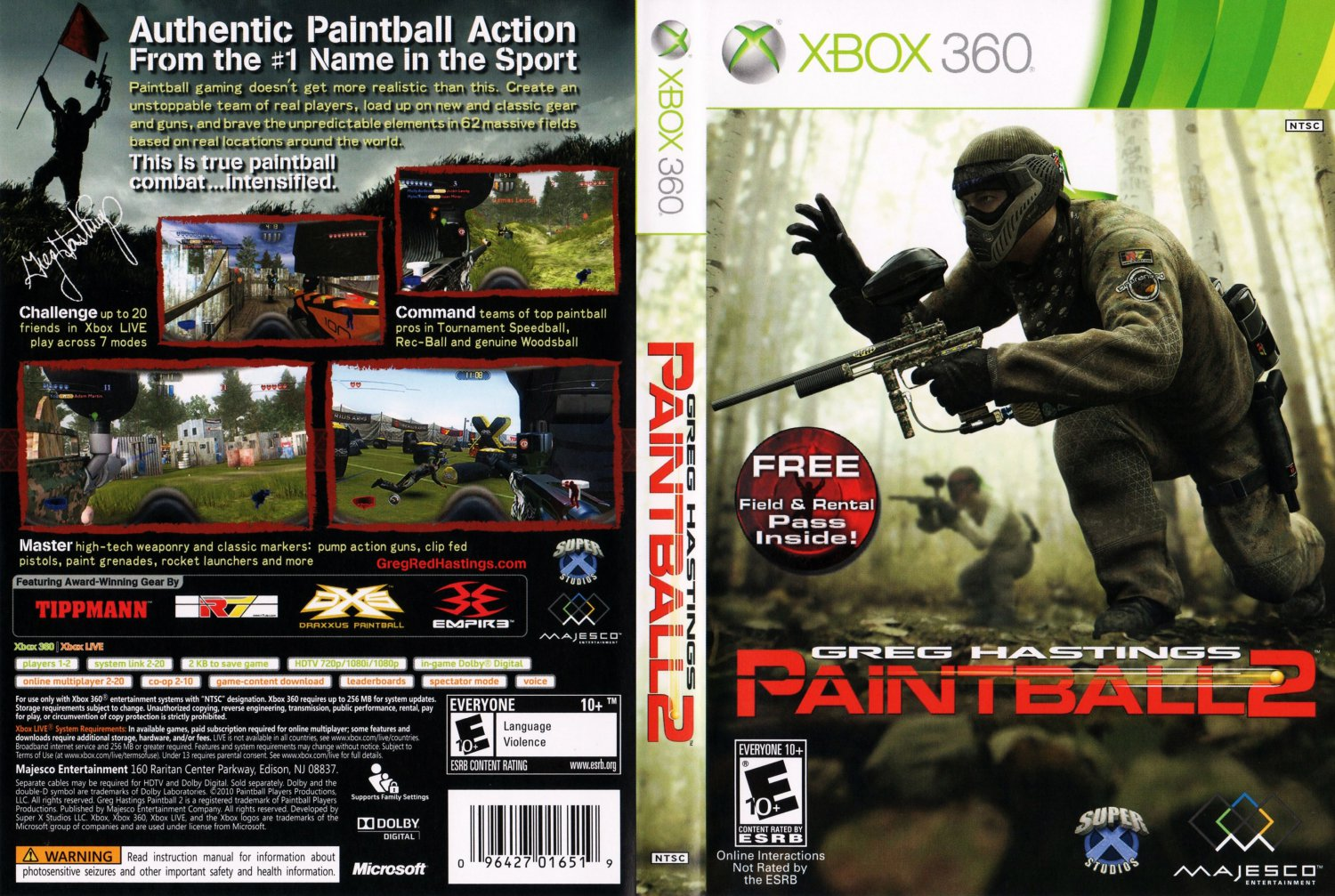 Paintball Games For Xbox 1 : Greg hastings paintball xbox game covers