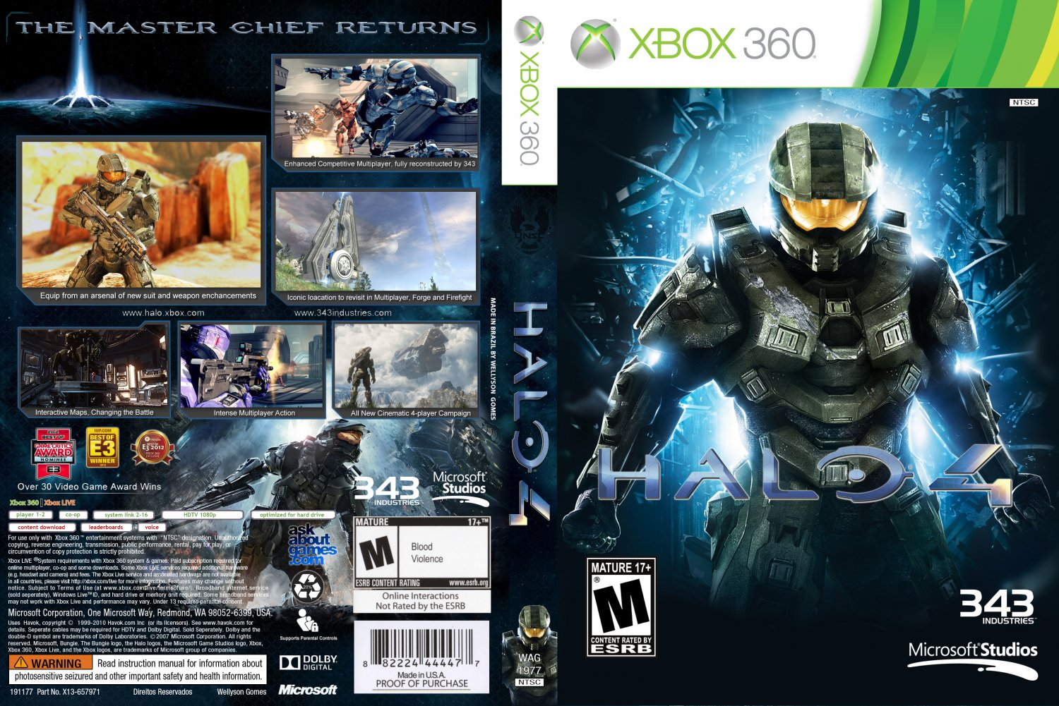 Halo 4 - XBOX 360 Game Covers - HALO 4 Mixed :: DVD Covers
