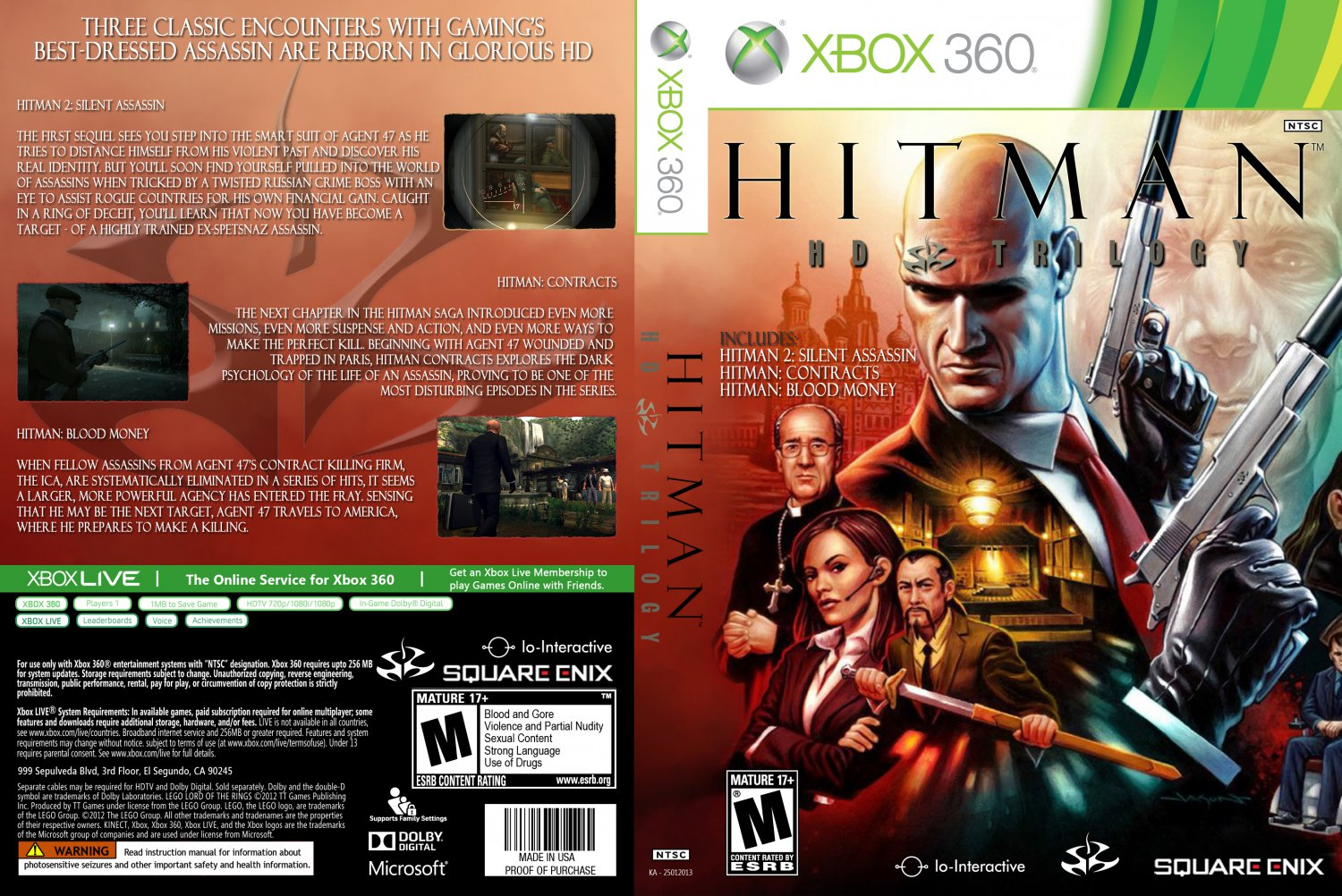 Book Cover Pictures Xbox ~ Hitman hd trilogy xbox game covers
