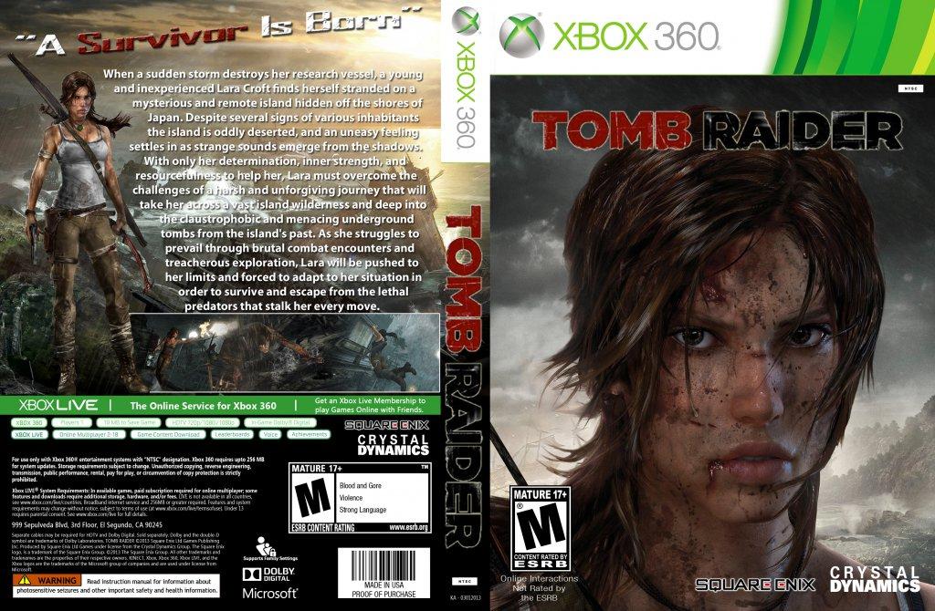 Tomb Raider - XBOX 360 Game Covers - Tomb Raider NTSC ...