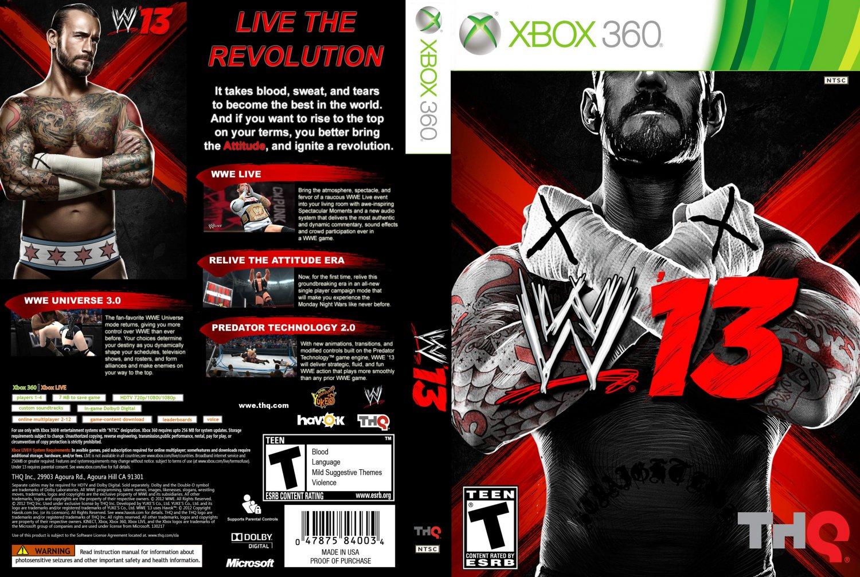 wwe 13 xbox 360 game covers wwe 13 dvd ntsc custom f