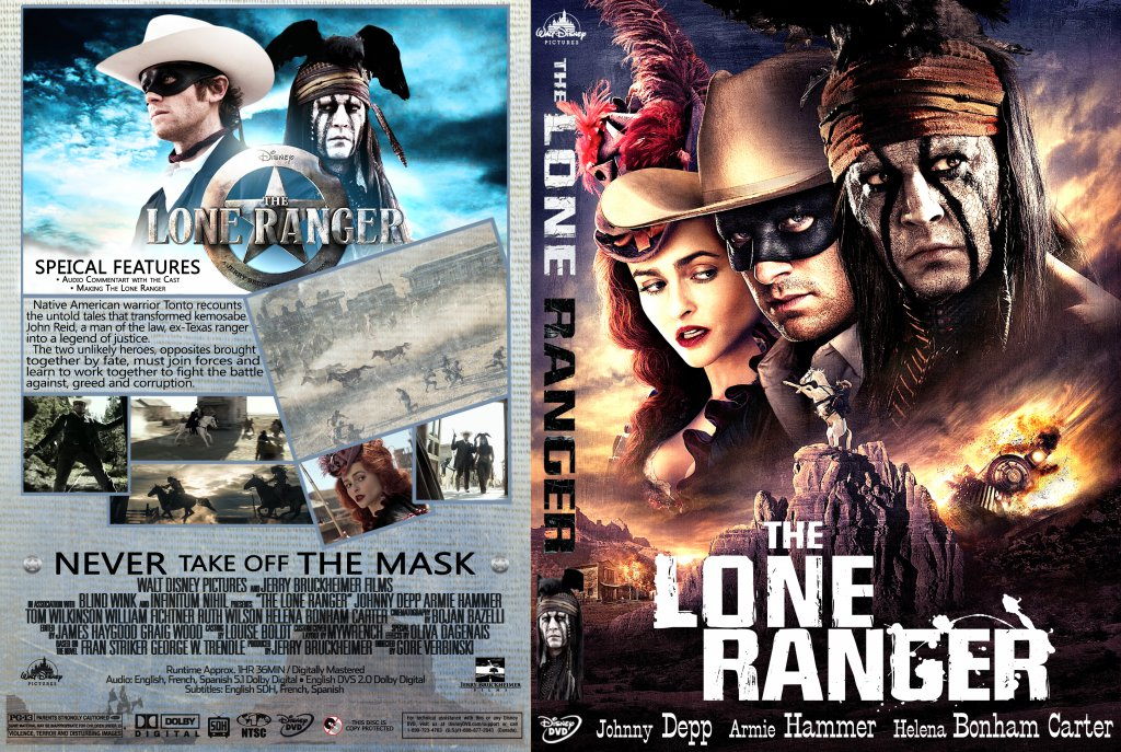 the lone ranger movie dvd custom covers lone ranger v3