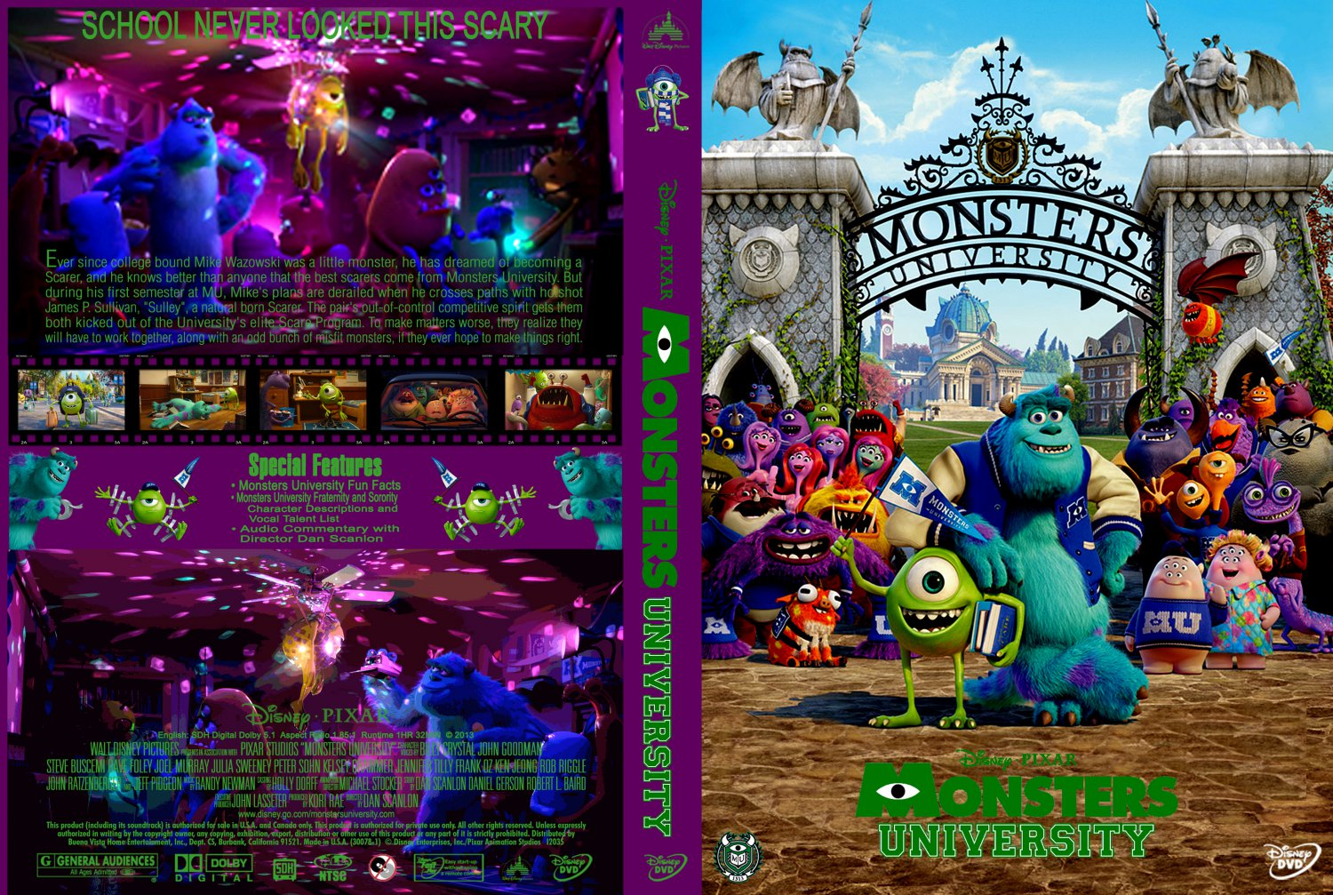 Monsters University - Movie DVD Custom Covers - Monsters ...