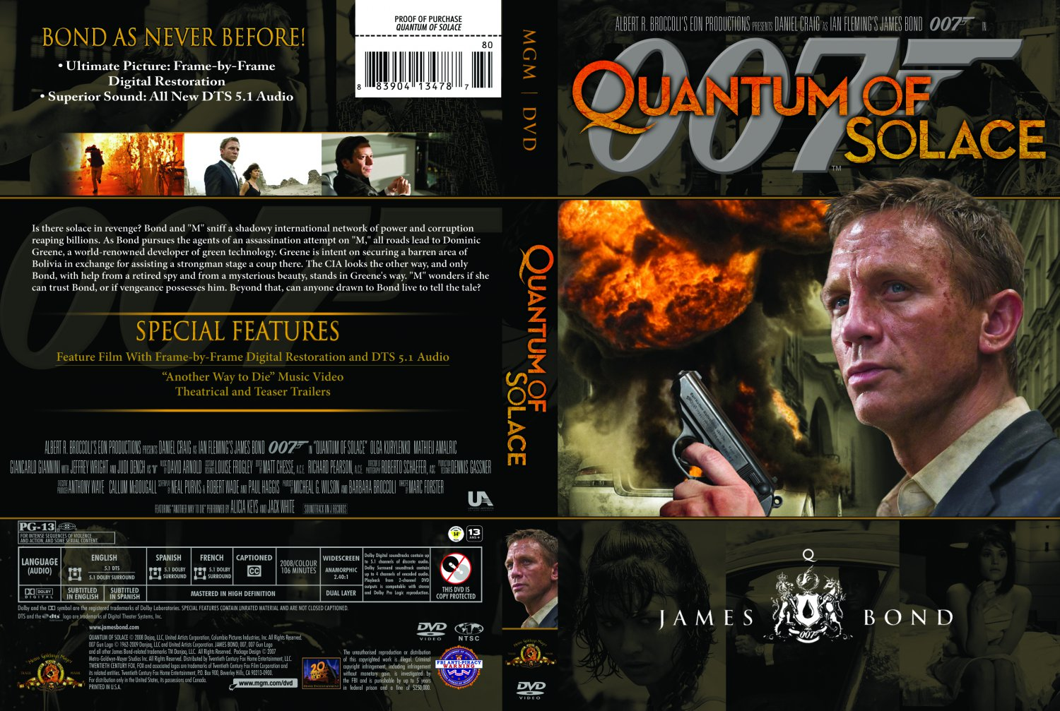 Quantum of Solace - Movie DVD Custom Covers - QuantumSolaceFINAL ... Quantum Of Solace Cover