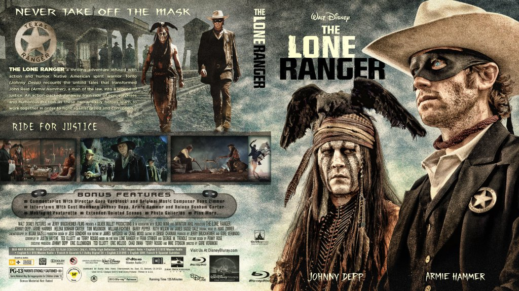 the lone ranger movie bluray custom covers
