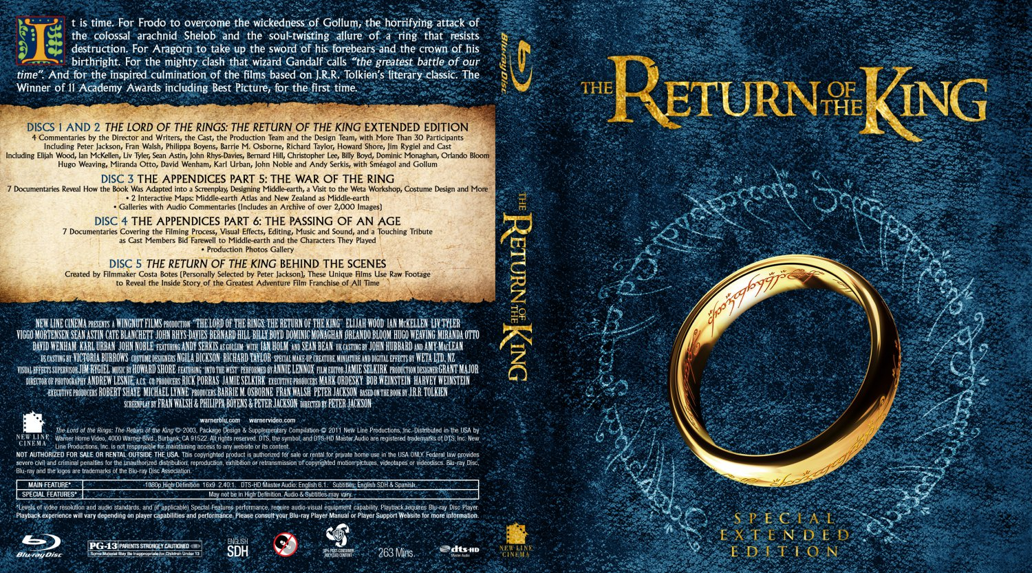 The Lord Of The Rings: The Return Of The King - Movie Blu ...