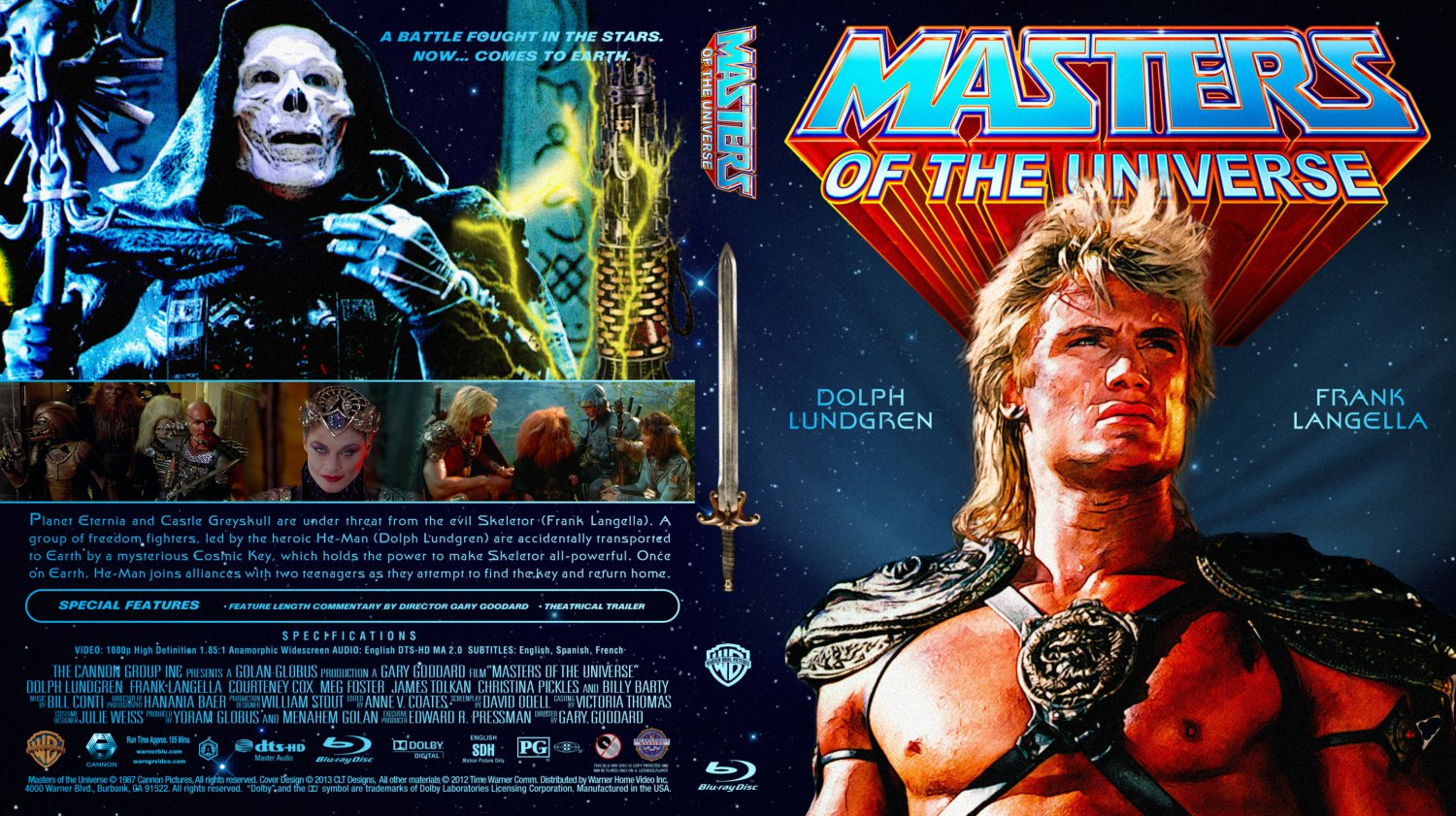 masters of the universe movie blu ray custom covers
