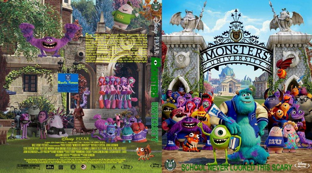 Monsters University - Movie Blu-Ray Custom Covers ...