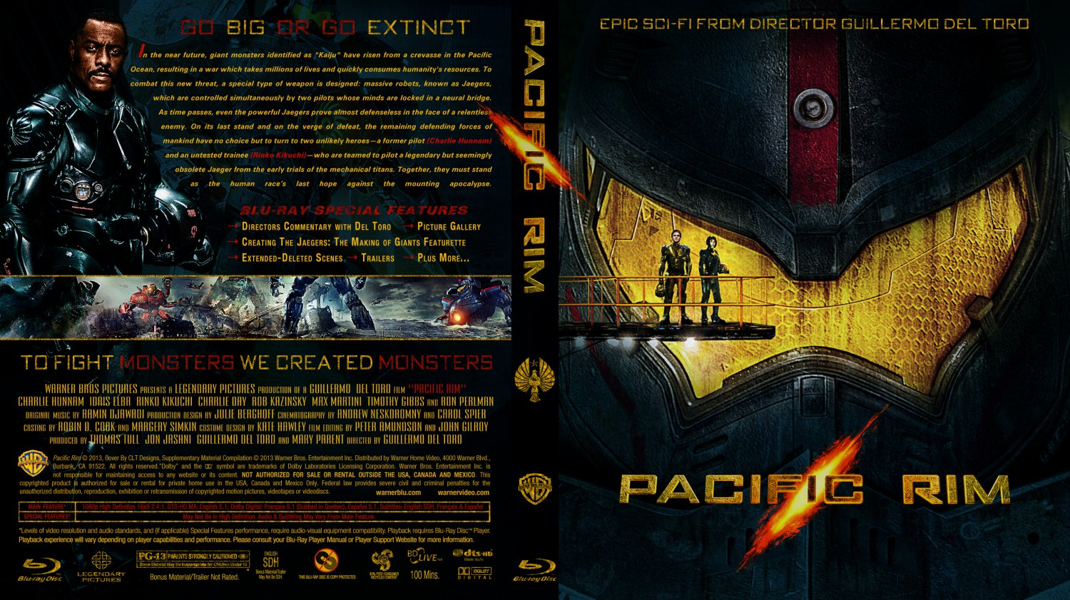 ... Ray Custom Covers - Pacific Rim 2013 Custom Bluray Cover :: DVD Covers Pacific Rim 2013 Dvd Cover