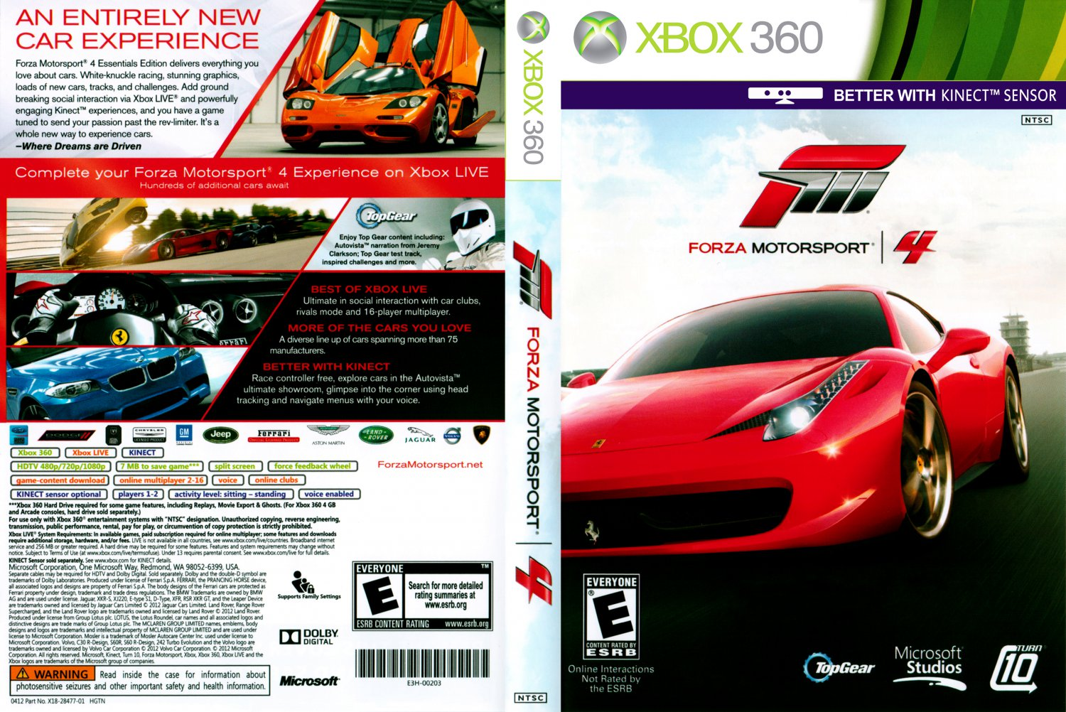 forza motorsport 4 xbox 360 game covers forza motorsport 4 dvd ntsc f1 dvd covers. Black Bedroom Furniture Sets. Home Design Ideas