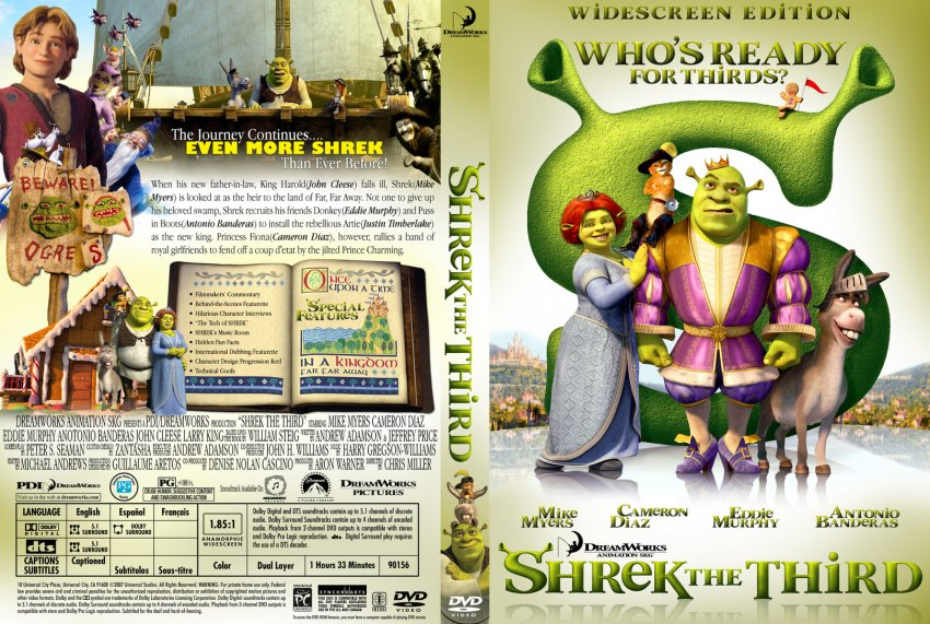 Shrek The Third Movie Dvd Custom Covers 3157shrek3 Zana Dvd Covers