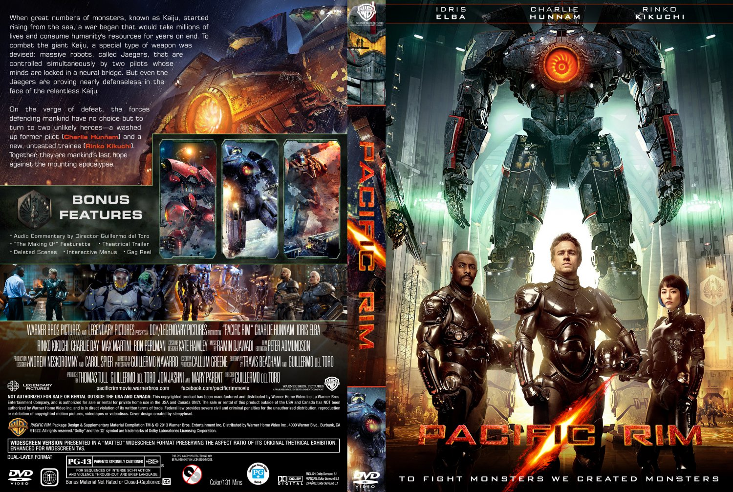 Pacific Rim - Movie DVD Custom Covers - Pacific Rim-front1 ... Pacific Rim Blu Ray Cover