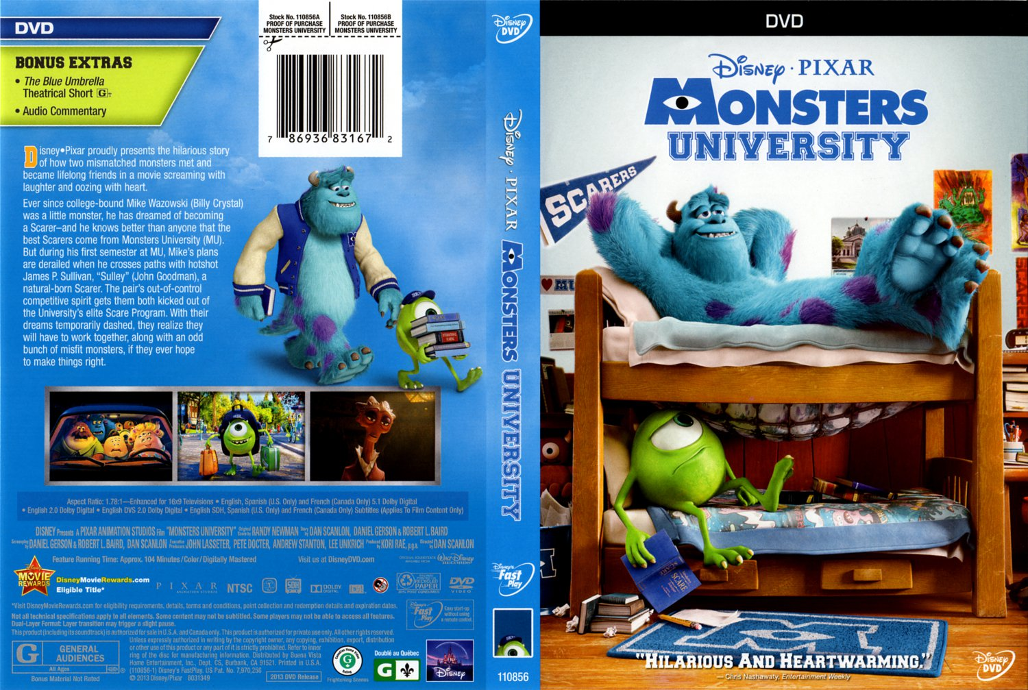 Monsters University - Movie DVD Scanned Covers - Monsters ...