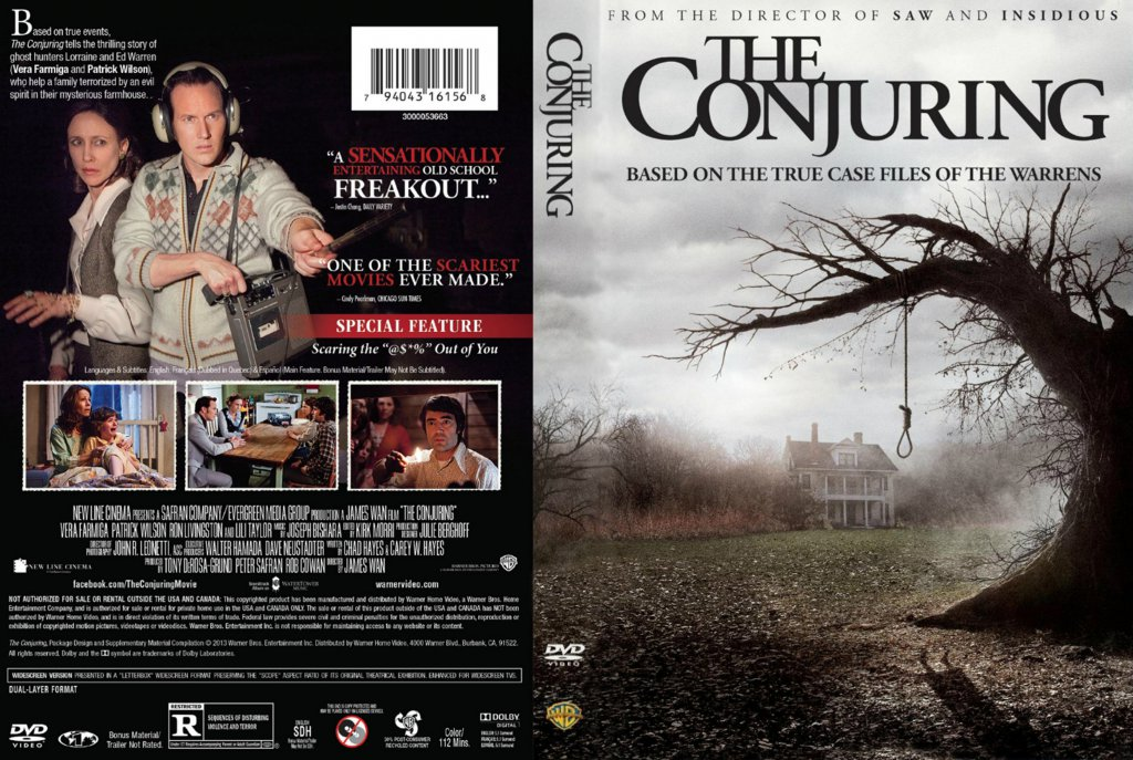The Conjuring Movie Dvd Scanned Covers The Conjuring