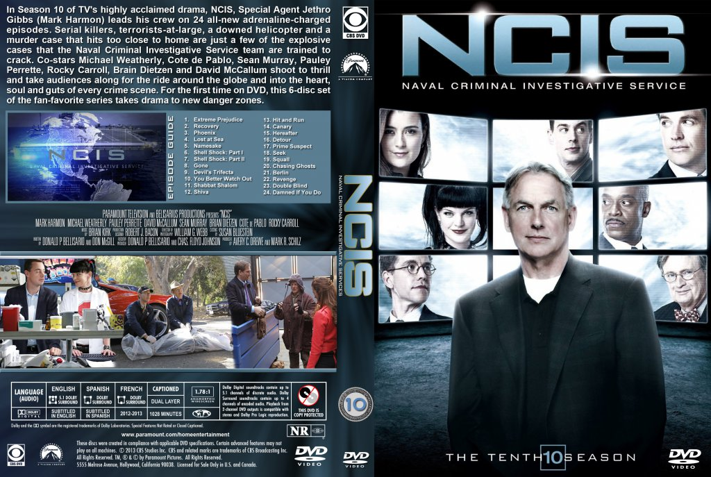 NCIS - Season 10 - TV DVD Custom Covers - NCIS-S10-st :: DVD Covers