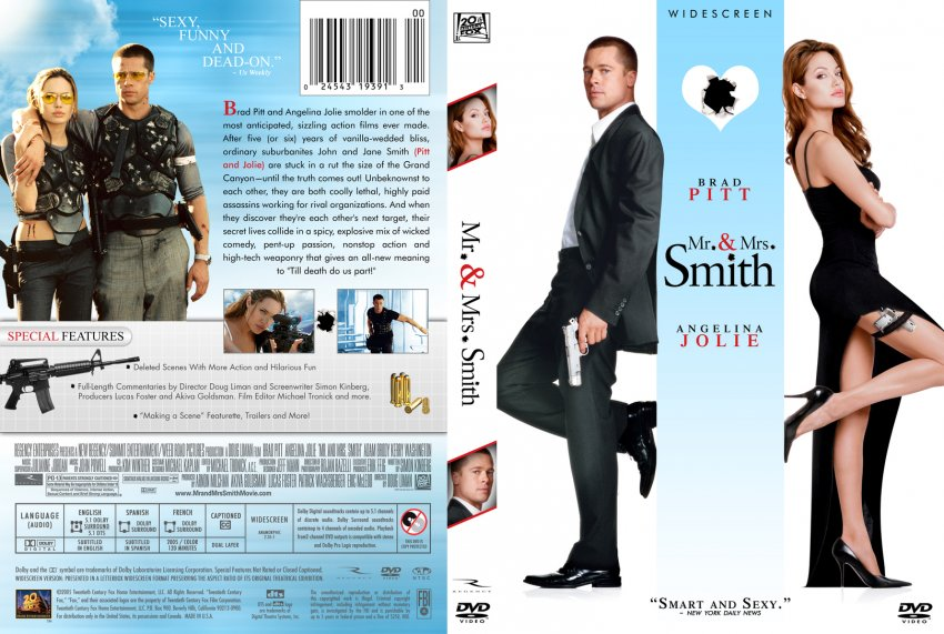 Mr. and Mrs. Smith DVD Cover