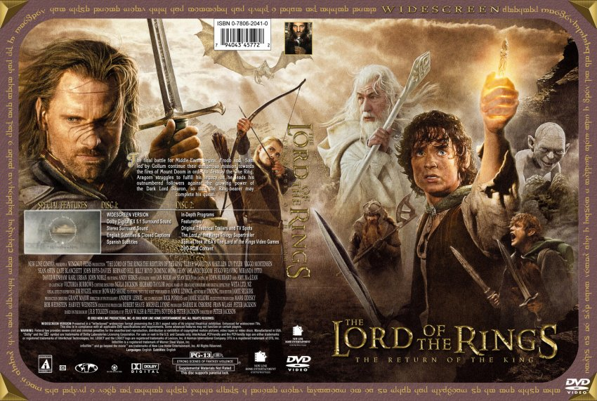 Lord of the Rings Return of the King Custom - Movie DVD ...
