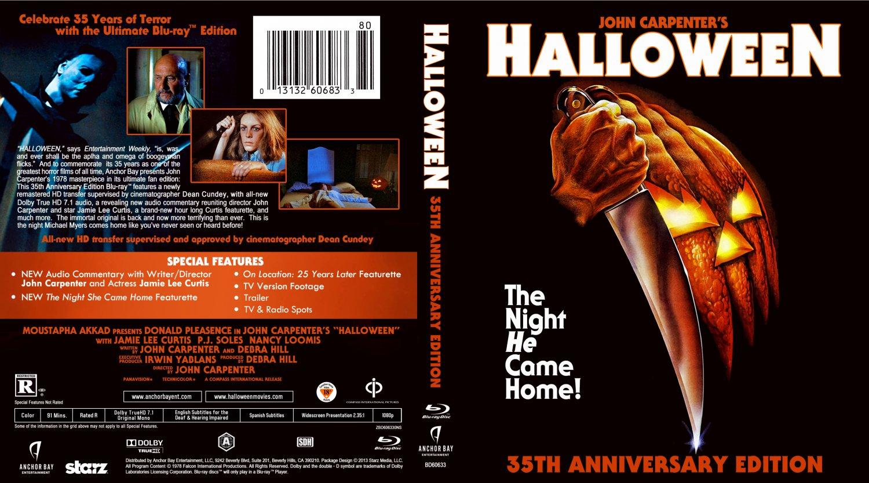 Halloween movie blu ray custom covers halloween 35th dvd covers