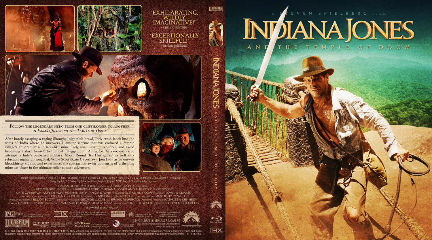 Indiana Jones And The Temple Of Doom Movie Blu Ray