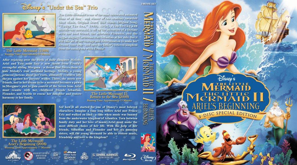 The Little Mermaid Triple Feature - Movie Blu-Ray Custom ...