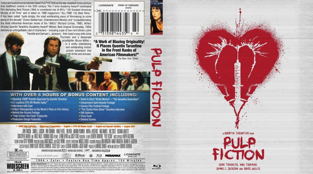 biblical references in pulp fiction essay With seven feature films, one omnibus film, two filmed screenplays, and two television series episodes (csi and er), as well as guest directorial and acting appearances, tarantino has lived up to the auteur hype that began brewing after the major success of pulp fiction.
