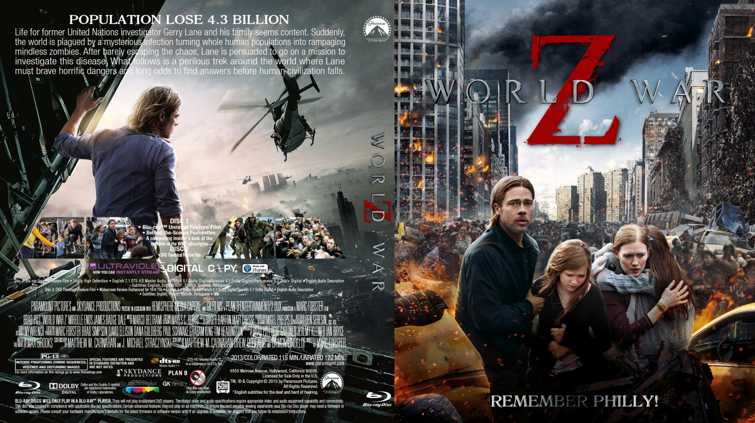 World War Z Movie Blu Ray Custom Covers World War Z Bd