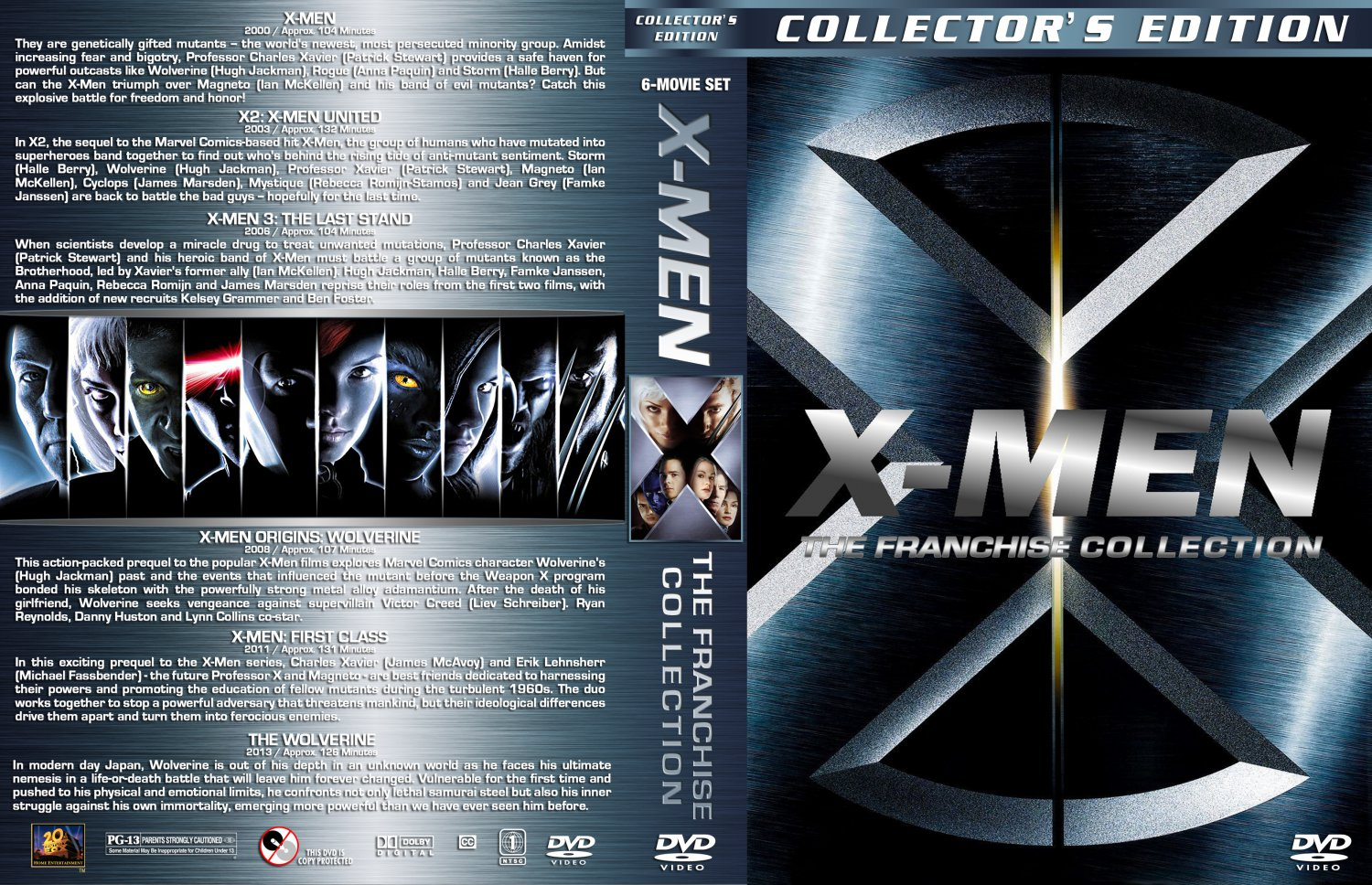 X Men Dvd Cover: The Franchise Collection