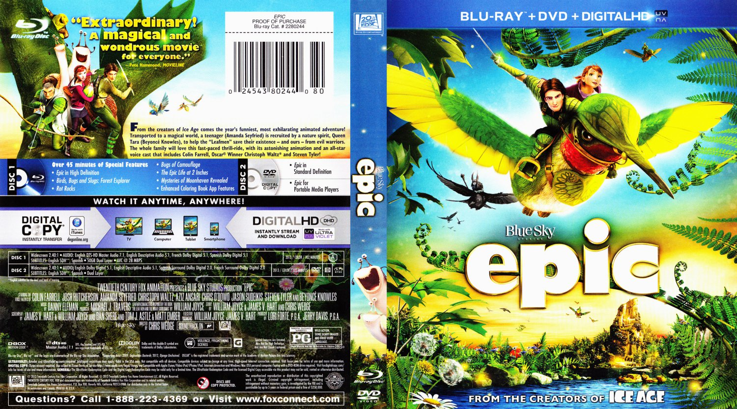 Epic - Movie Blu-Ray Scanned Covers - Epic BD1 :: DVD Covers